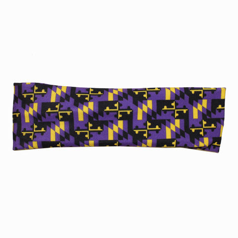 Baltimore Football Purple & Gold Maryland Flag (Style 3) / Headband - Route One Apparel