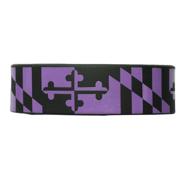 Purple & Black Maryland Flag / Wide Bracelet