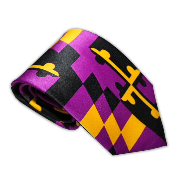 Baltimore Football Purple & Gold Maryland Flag / Tie