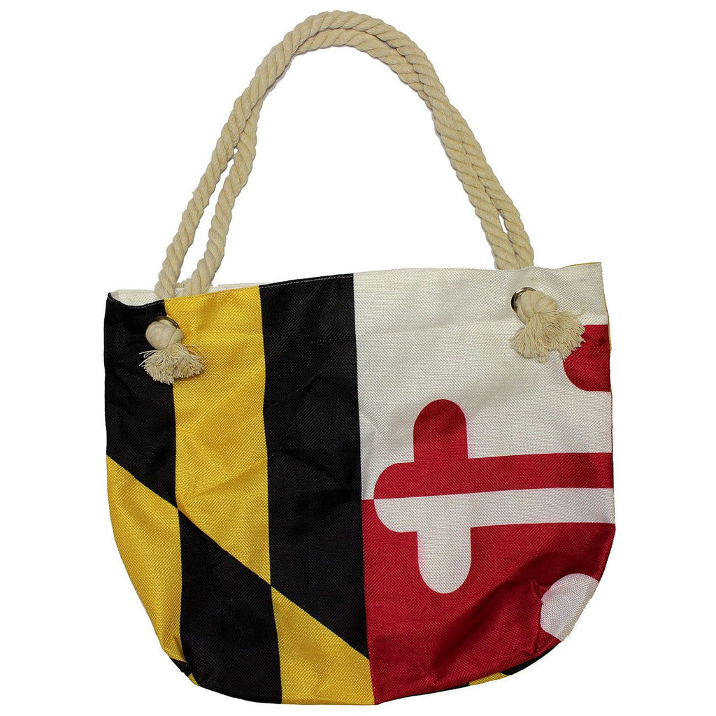 Maryland Flag with Rope Handles / Tote Bag