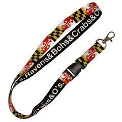 Ravens & Bohs & Crabs & O's Maryland Flag / Lanyard