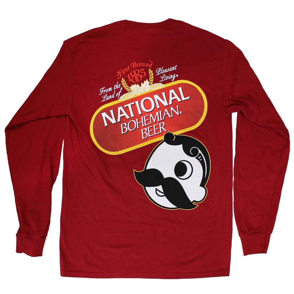 National Bohemian Beer Signature Classic (Cardinal) / Long Sleeve Shirt