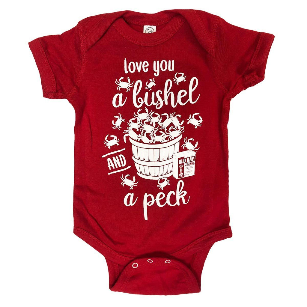 Love You A Bushel & A Peck (Red) / Baby Onesie