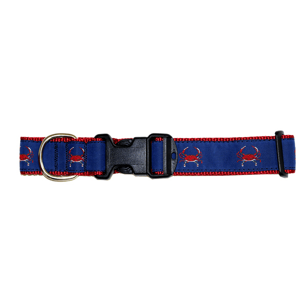 Blue & Red Crab / Dog Collar