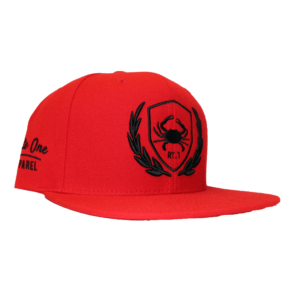Rt. 1 Crest (Red) / Canvas Snapback Hat