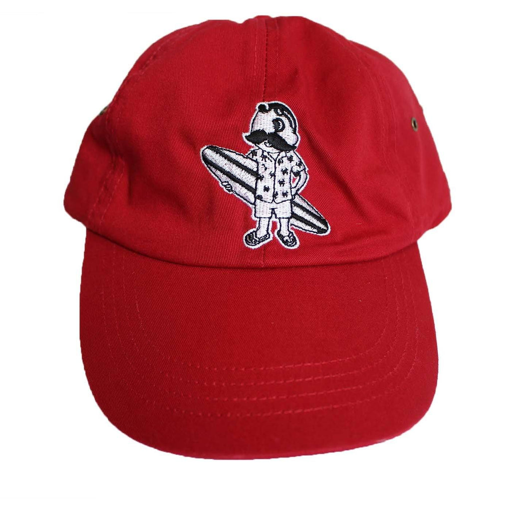 Natty Boh Surfer Dude in White (Red) / Baseball Hat