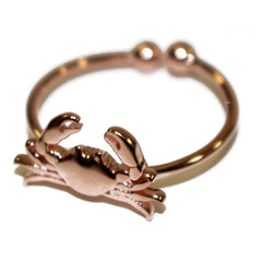 Maryland Blue Crab (Sterling Silver w/ 14K Rose Gold Vermeil) / Ring