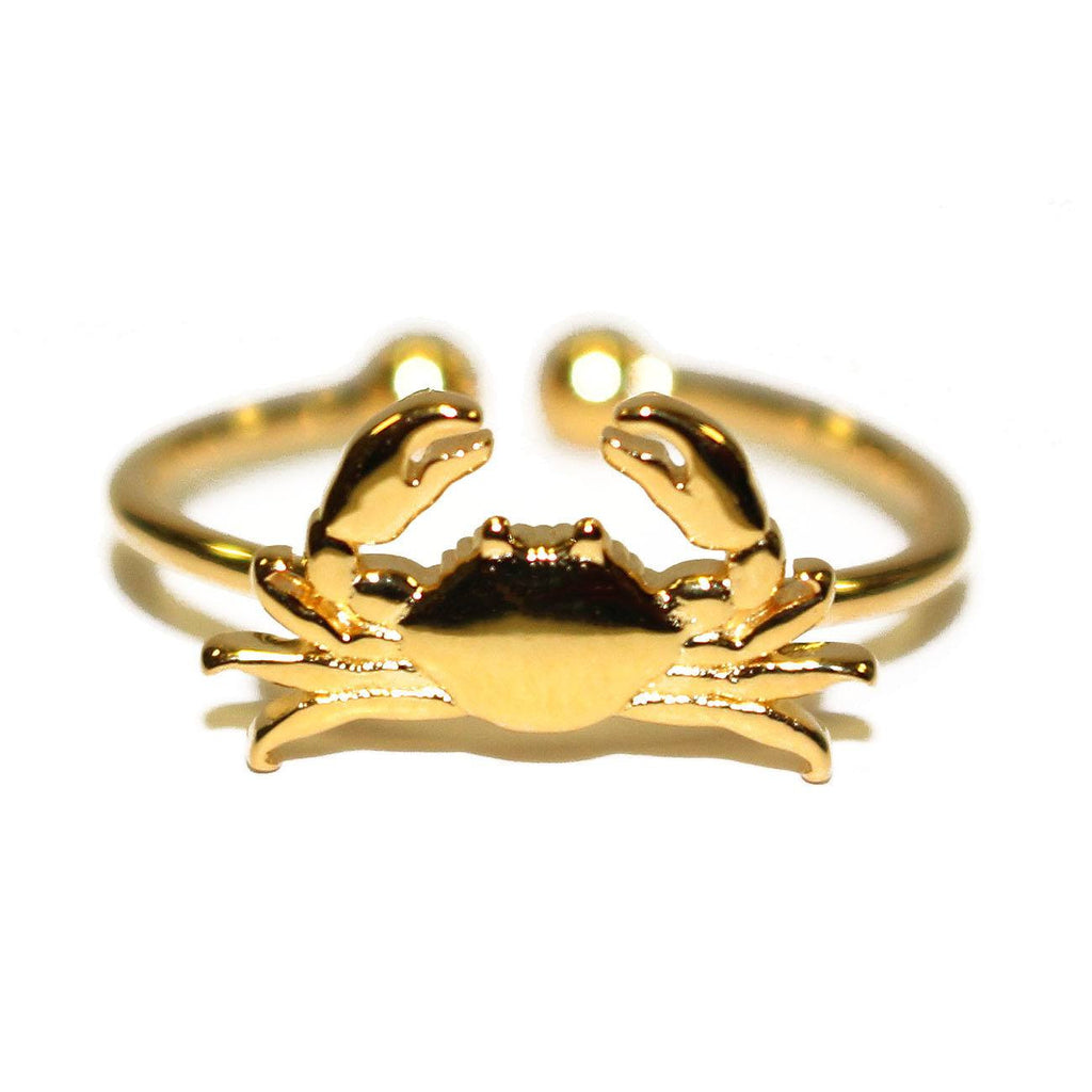 Maryland Blue Crab (Sterling Silver w/ 14K Gold Vermeil) / Ring