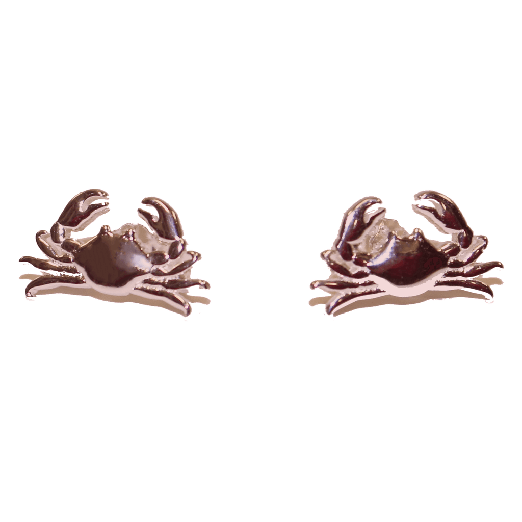 Maryland Blue Crab (Sterling Silver w/ 14K Rose Gold Vermeil) / Earrings (Back-Ordered Until 1/10)