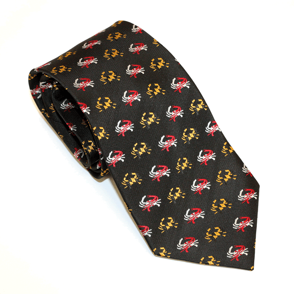 Embroidered Maryland Flag Crab (Black) / Tie