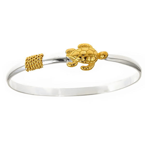 Nautical Turtle (Sterling Silver & 14K Gold Vermeil) / Bracelet
