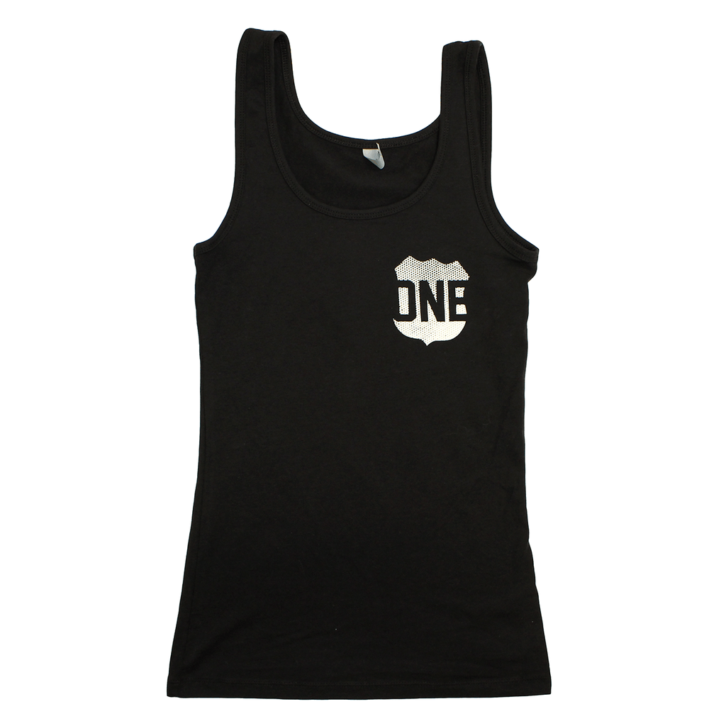Route One Apparel Classic Flag & Crab (Black) / Ladies Tank