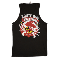 Route One Apparel Classic Flag & Crab (Black) /  Tank