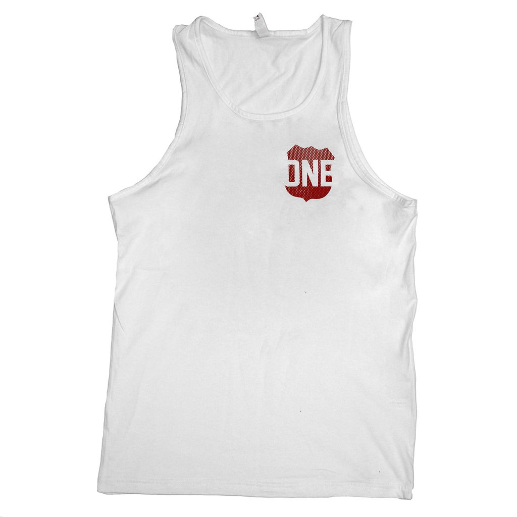 Route One Apparel Classic Flag & Crab (White) /  Tank