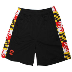 Maryland Flag (Black) / *Youth* Running Shorts (Boys)