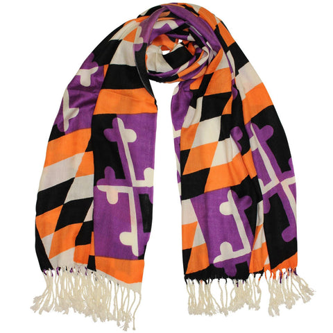 Baltimore Purple & Orange Maryland Flag / Scarf - Route One Apparel