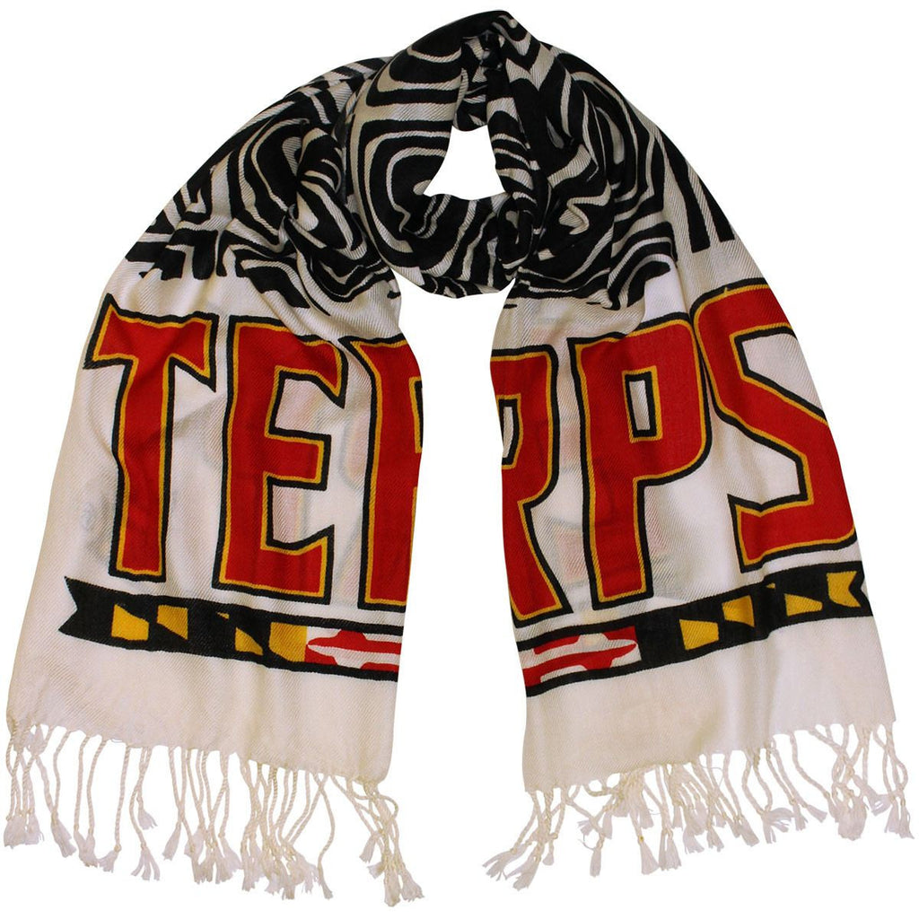 UMD Terps & Turtle Shell (White & Black) / Scarf