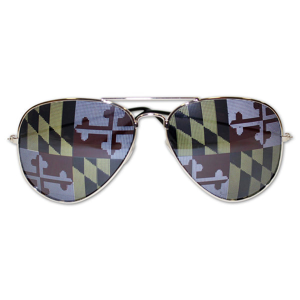 Maryland Flag / Aviator Sunglasses