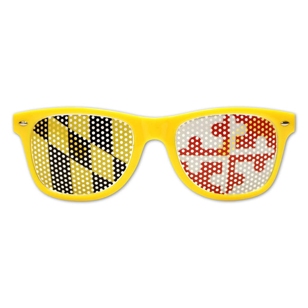Yellow Maryland Flag LOGO Lenses / Sunglasses
