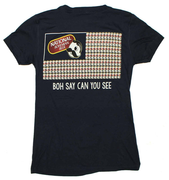 Boh Say Can You See (Navy) / Ladies V-Neck Shirt