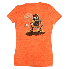 Natty Boh Baseball Catcher (Orange) / Ladies V-Neck Shirt