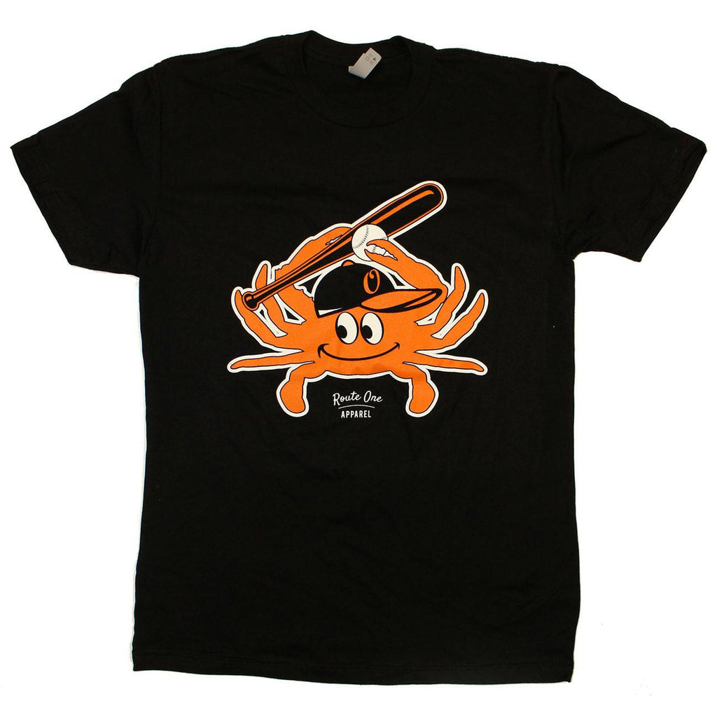 Baltimore Baseball Orange Crab (Black) / Shirt - Route One Apparel