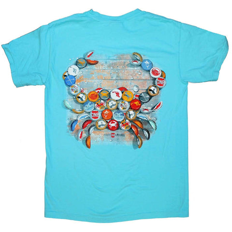 Natty Boh Bottle Cap (Lagoon Blue) / Shirt