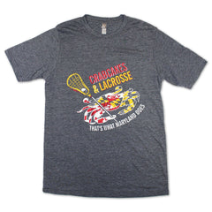 Crab Cakes & Lacrosse (Grey) / Shirt - Route One Apparel