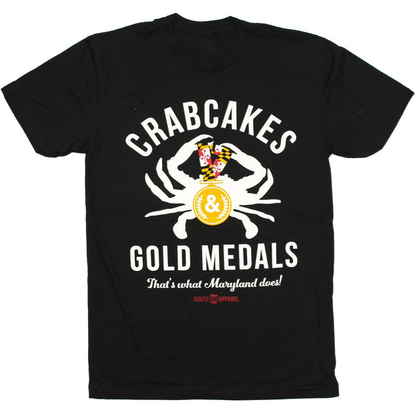 Crabcakes & Gold Medals (Black) / Shirt