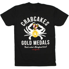 Crabcakes & Gold Medals (Black) / Shirt - Route One Apparel