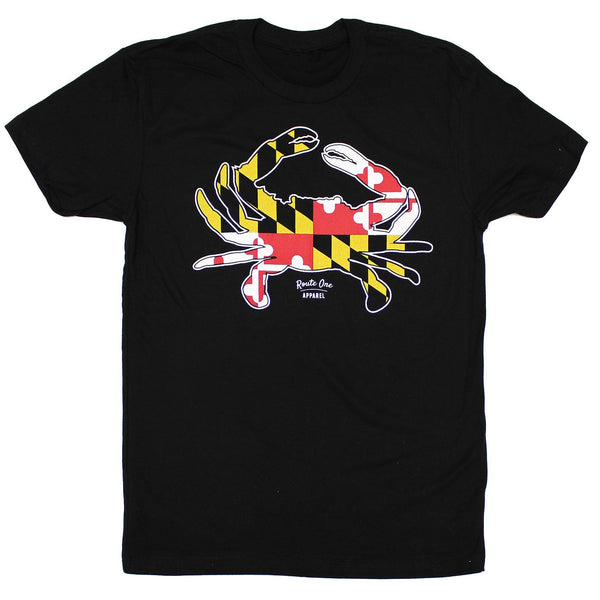 Maryland Full Flag Crab (Black) / Shirt