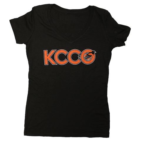 KCCO Baltimore Baseball Bird (Black) / Ladies V-Neck Shirt