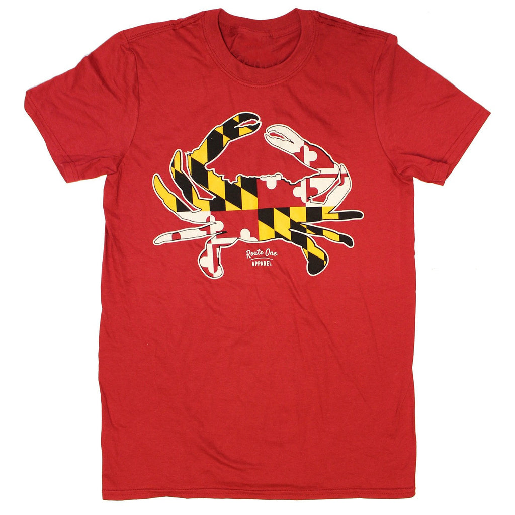 Maryland Full Flag Crab (Red) / Shirt