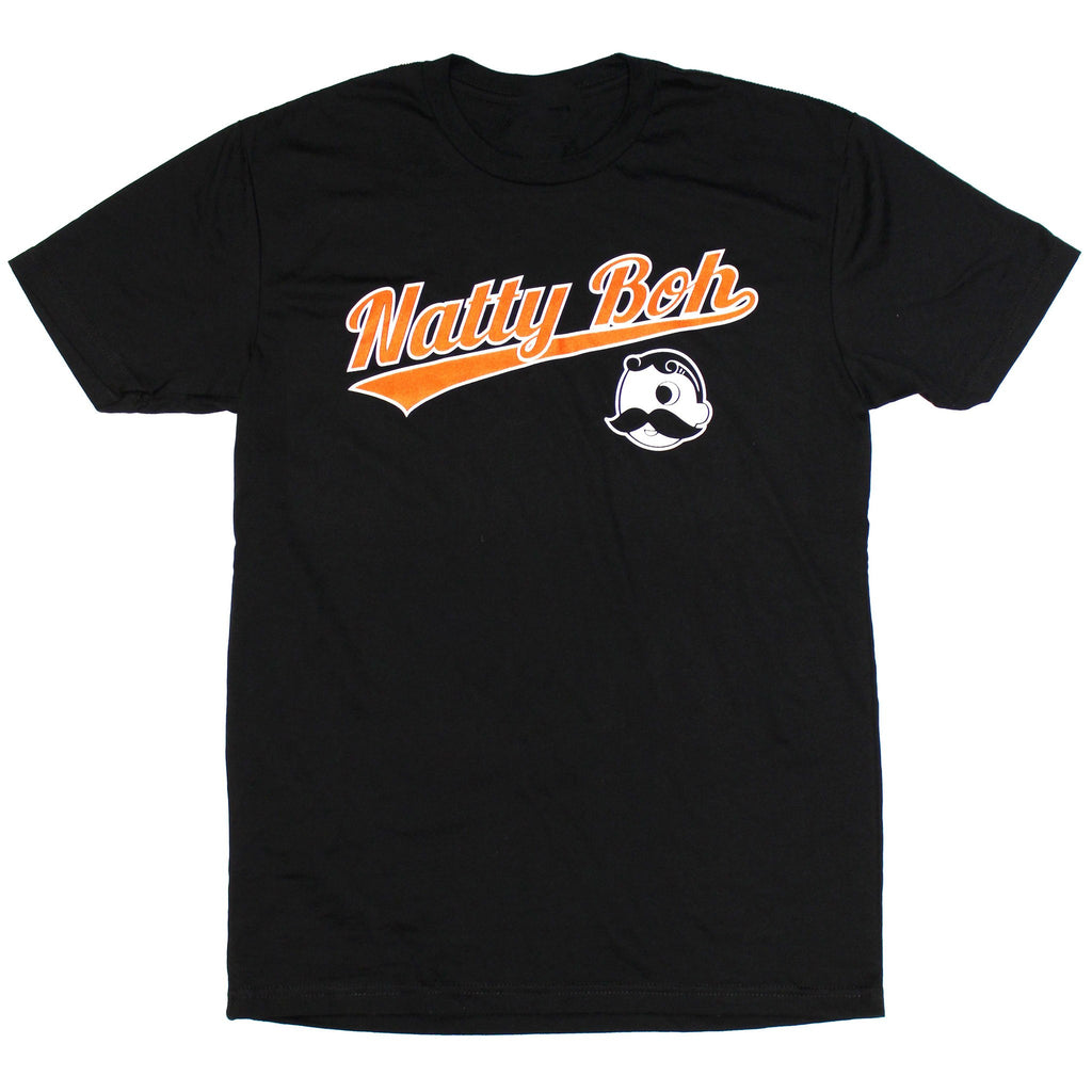 Natty Boh Baseball Font with Boh Logo (Black) / Shirt
