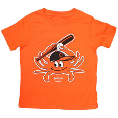 Baseball Orange Crab (Orange) / *Toddler* Shirt - Route One Apparel