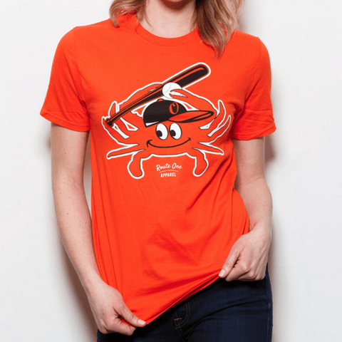 Baseball Orange Crab (Orange) / Shirt - Route One Apparel