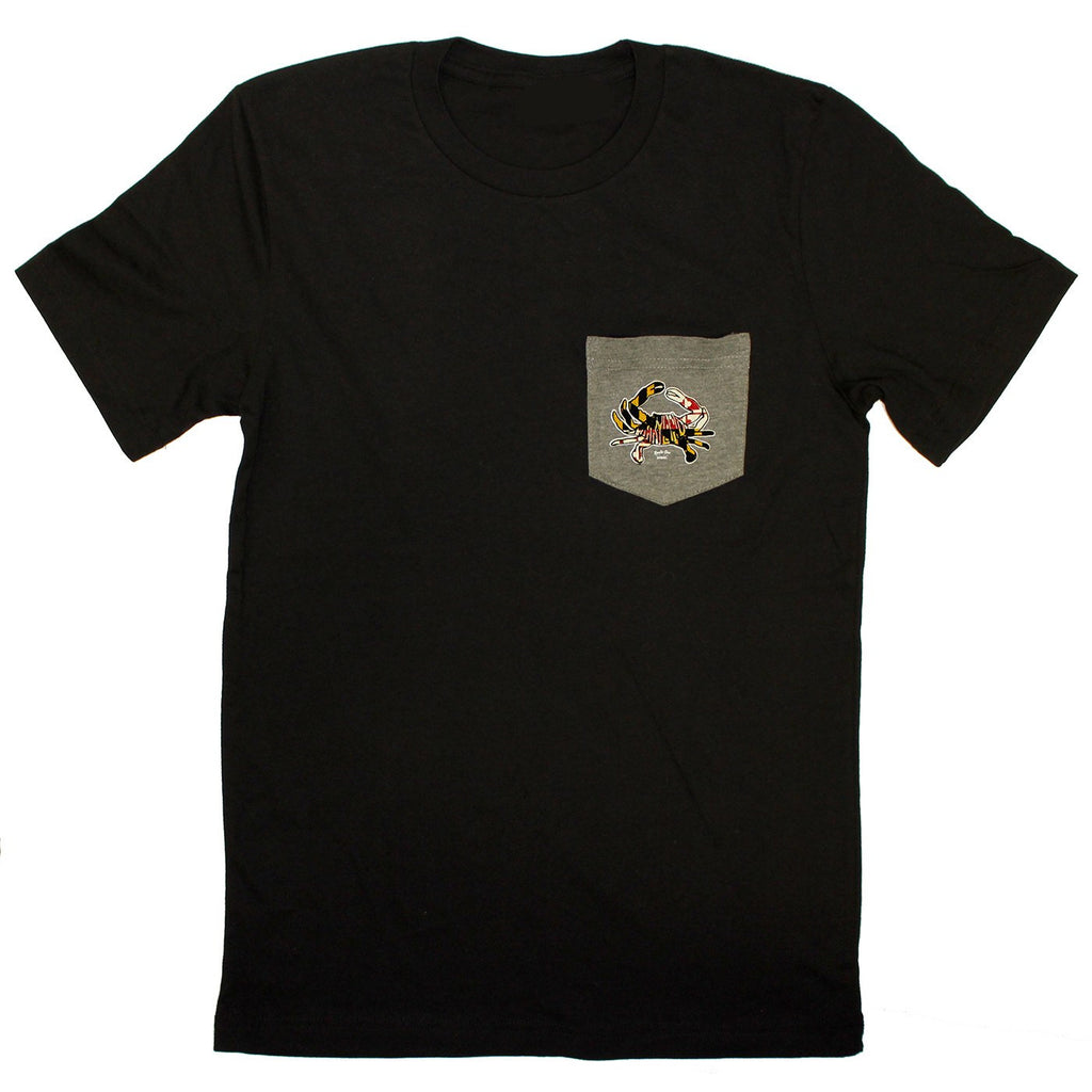 Maryland in Maryland in Maryland Crab (Black) / Pocket Tee Shirt