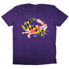 Maryland Full Flag Crab (Purple) / Shirt