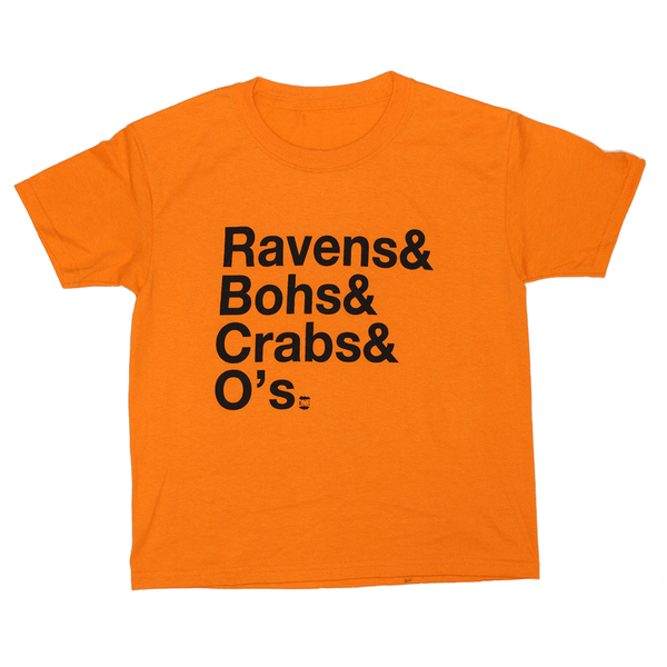 Ravens & Bohs & Crabs & O's (Orange) / *Youth* Shirt