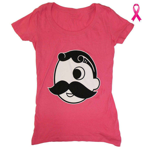 Natty Boh Logo (Pink) / Ladies Scoop Neck Shirt