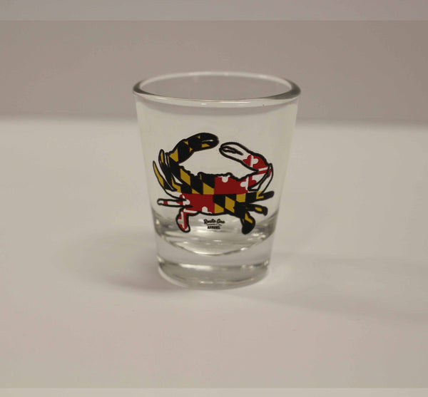 Maryland Full Flag Crab / Shot Glass