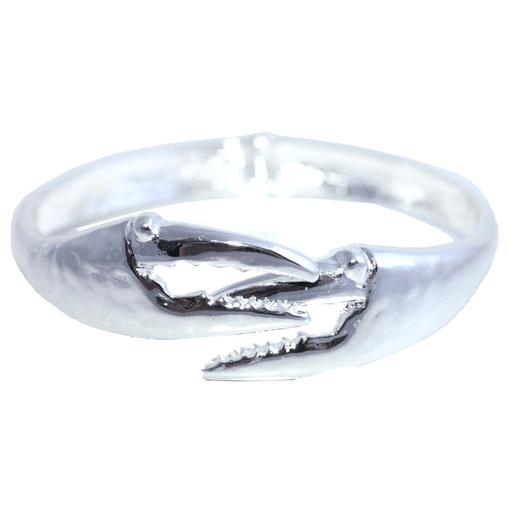Crab Claw (Silver) / Bangle Bracelet - Route One Apparel