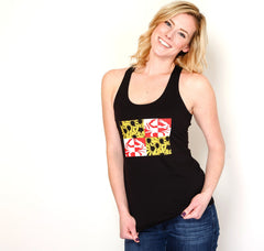 Crabby Susan Maryland (Black) / Ladies Racerback Tank - Route One Apparel