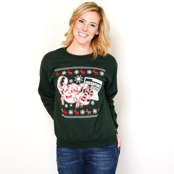 Crabby Holiday (Forest Green) / Crew Sweatshirt