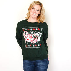 Crabby Holiday (Forest Green) / Crew Sweatshirt - Route One Apparel