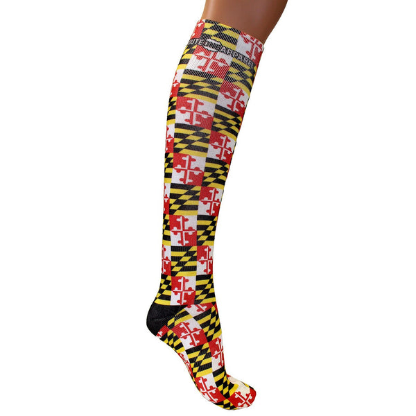 Maryland Flag / Knee-High Socks