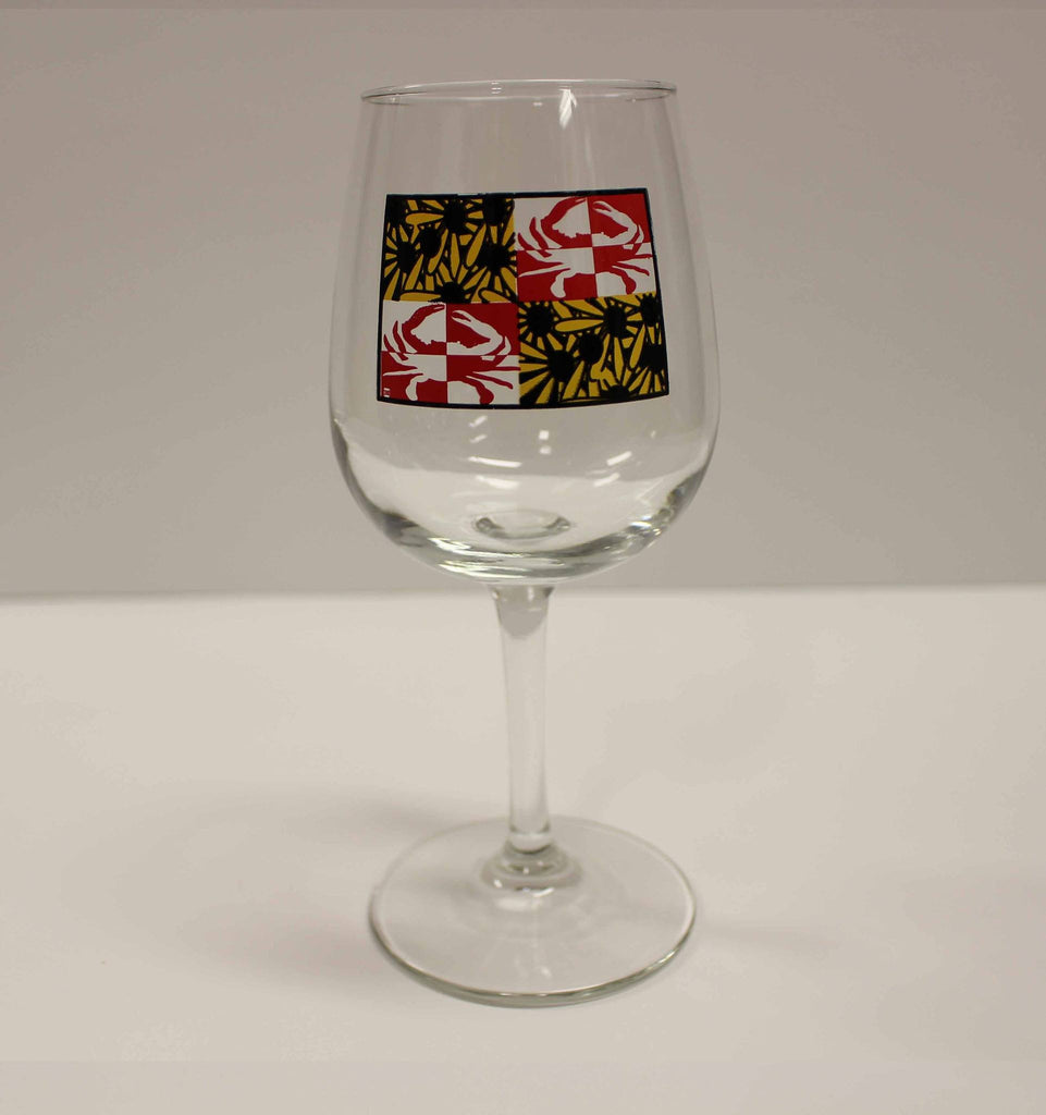 Crabby Susan Maryland / Wine Glass - Route One Apparel
