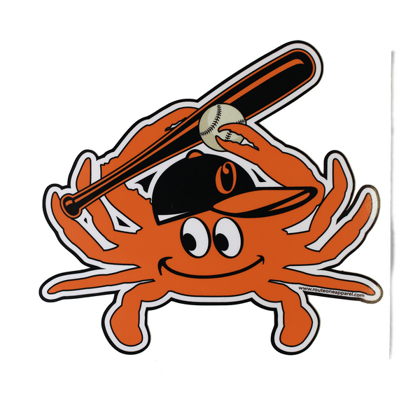 Baseball Crab (Orange) / Sticker - Route One Apparel
