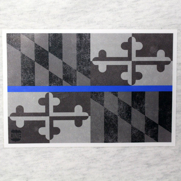 Maryland Flag Blue Line / Sticker