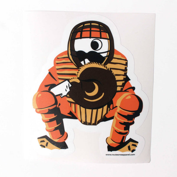 Natty Boh Baseball Catcher / Sticker